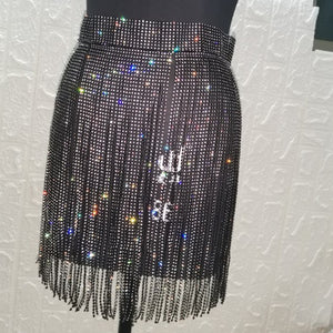 "New Sexy ""The Main Tease"" Rhinestone Skirt"