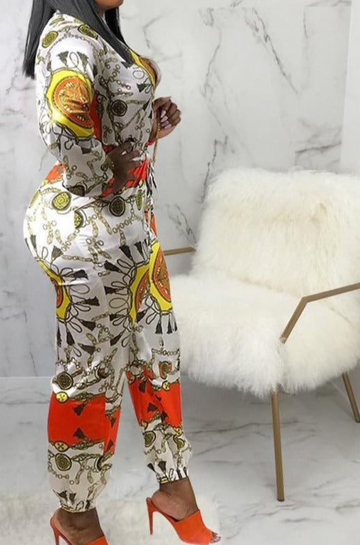 "Gorgeous Africa Cultured ""It's My Beauty Not My Booty"" Zippered Jumpsuit Plus Size In Stock"