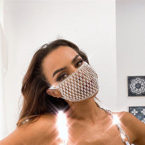 "New Exclusive ""Web Of Lies"" Custom Gorgeous Nightclub Bling Face Masks"