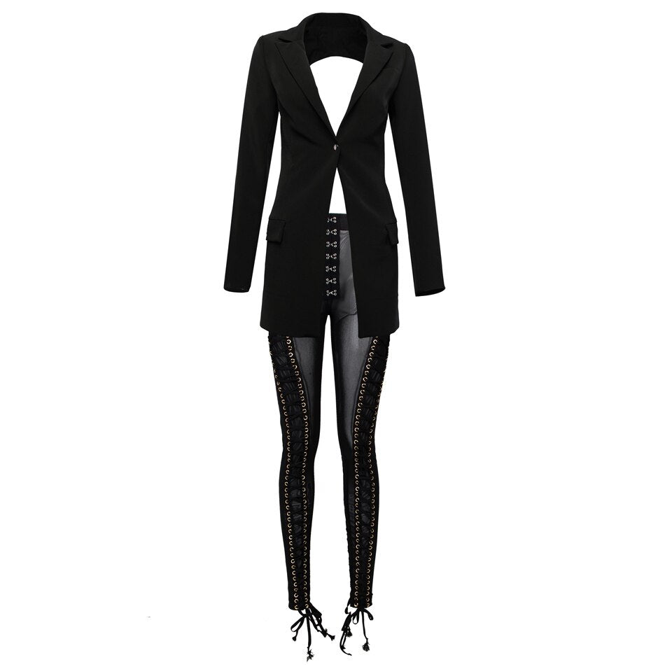 "Sassy N Sophisticated ""I See Straight Through You"" Jacket Blazer + Designer Matching Pant Or Shorts"