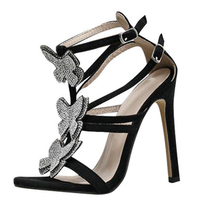 "Fabulous Hot New ""After Hours"" Rhinestone Butterfly Heels"