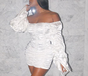 "Hot New ""Got Damn"" Fab Scrunch Oversize Sleeved Dress"