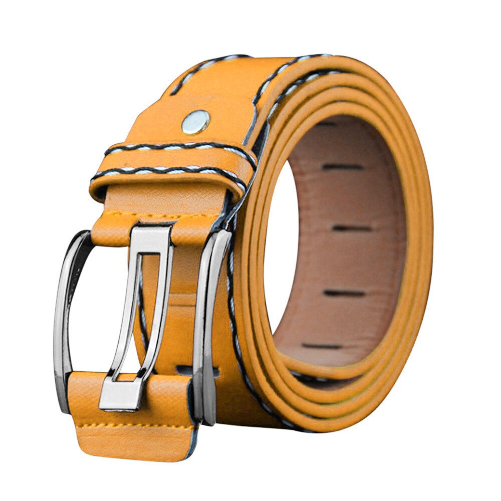 Nice New Men's Leather Colored Casual Style Belts Fits Size 29-40