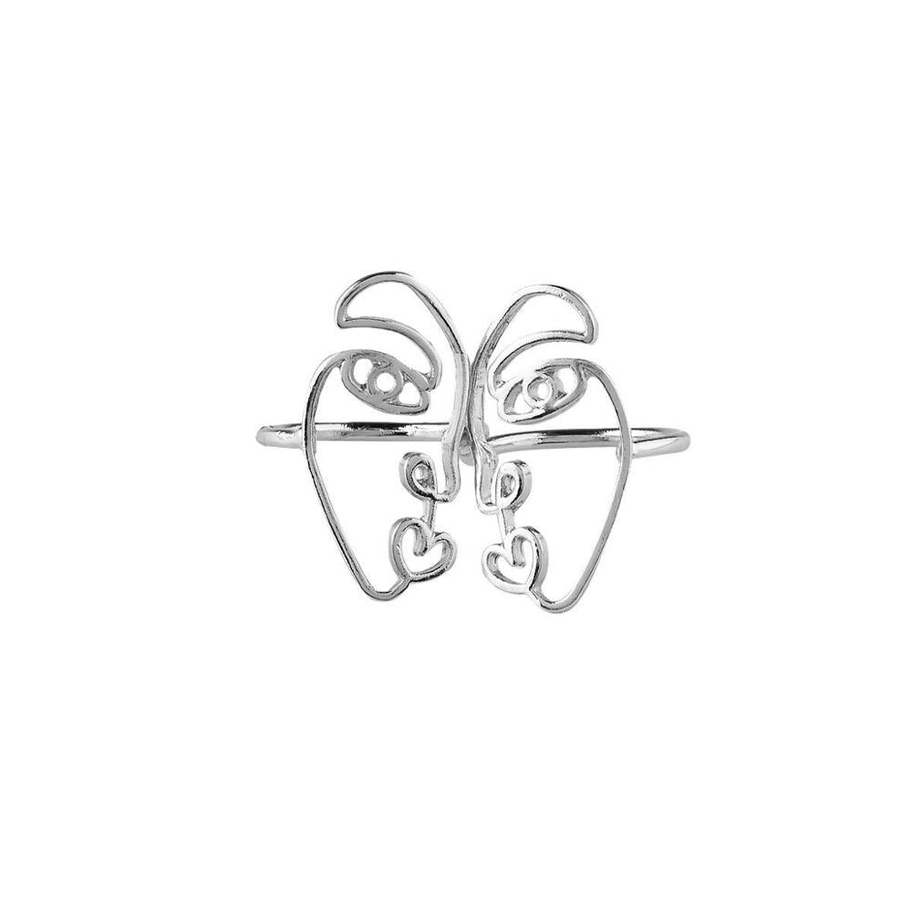 "New Cute ""Two Faced"" Ring Set"