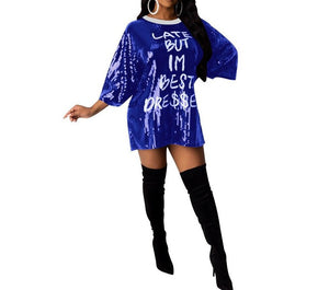 "Hot New ""Best Dressed"" Sequined T-shirt Dresses"