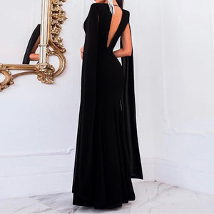"Elegant ""Autumn"" Deep Plunge Backless Evening Party Gown Dress"
