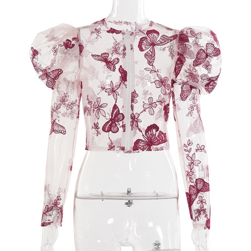 "Runway Stunning ""Willow"" Butterfly Puff Sleeve Blouse"