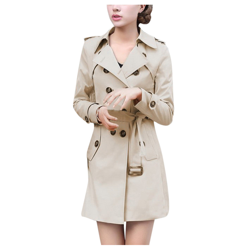 Hot New Classic & Chic Double Breasted Trench Plus Sizes In Stock