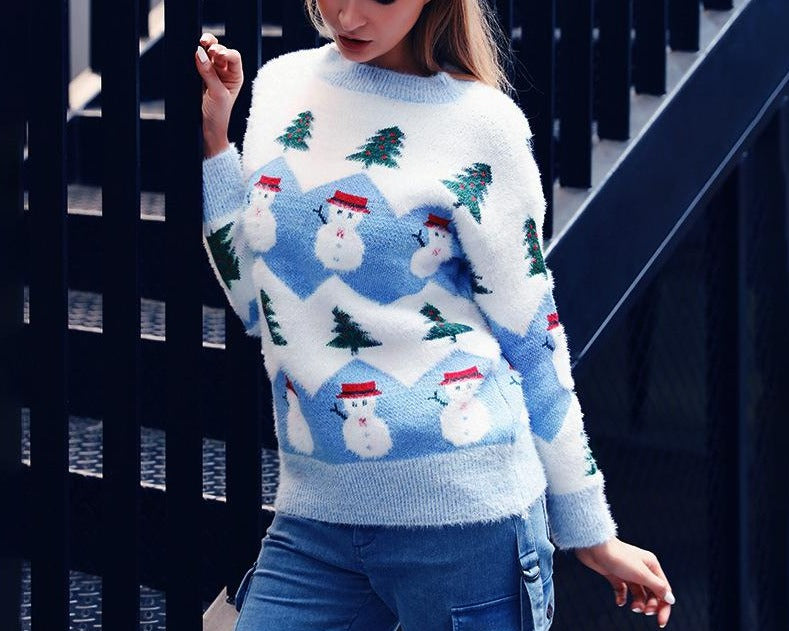 New Designer Adorable Snowman Ugly Xmas Sweaters
