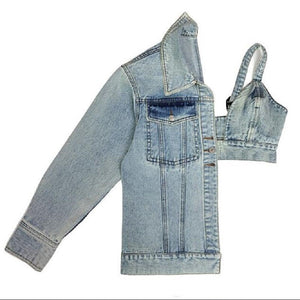 Sexy N Sassy One Sleeved Designer Denim Jacket
