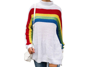 "New Streetwear Glam ""Rainbows"" Fab Over-sized Sweaters"