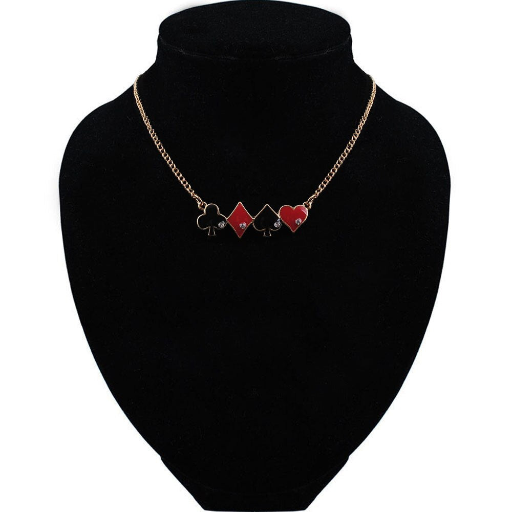 "From Our ""Not Playing With A Full Deck"" Collection Diamond Spade Infinity Love Necklace"