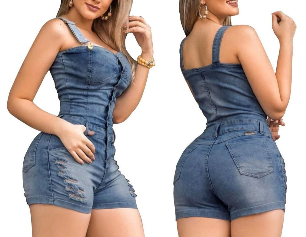 New Suspender Shorts Overall Jumpsuit
