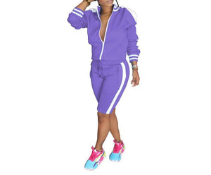 "Exclusive ""Serious Trust Issue"" Gorgeous Tracksuit Short Sets"