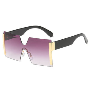 Glamour Colored Fashionable Big N Bold Over-sized Rimless Sunglasses