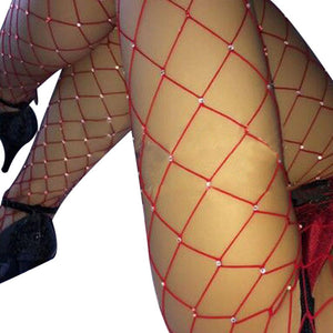 Hot New Big Block Diamond Sexy Hot Rhinestone Stockings Pantyhose
