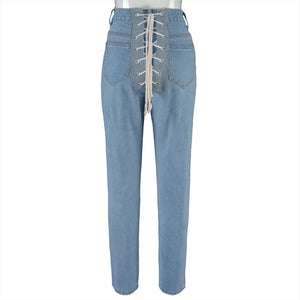 "Hot New ""Easy Access"" Lace-Up The Back Jeans"