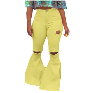 "Sassy Bell Legged Colored ""Cutie"" Stretch Pant Jean"
