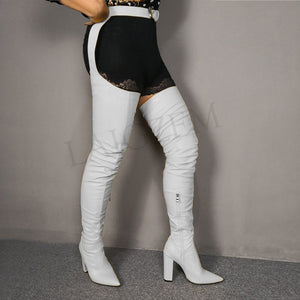 "New Classy ""ReeRee"" Celebrity Waist-Belted Thigh-High Boots"