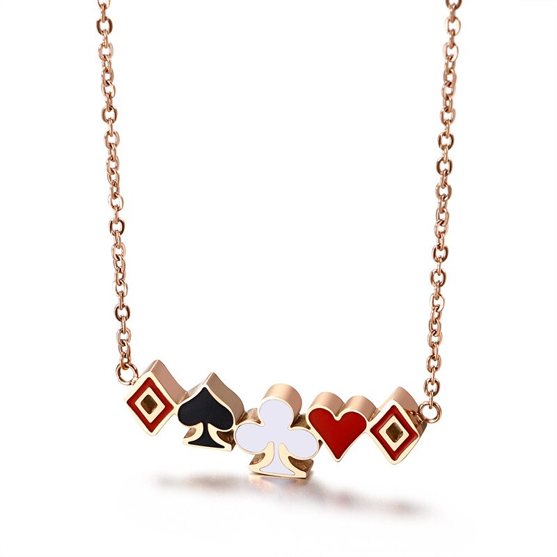 "From Our ""Not Playing With A Full Deck"" Collection Heart 2 Heart Necklace"