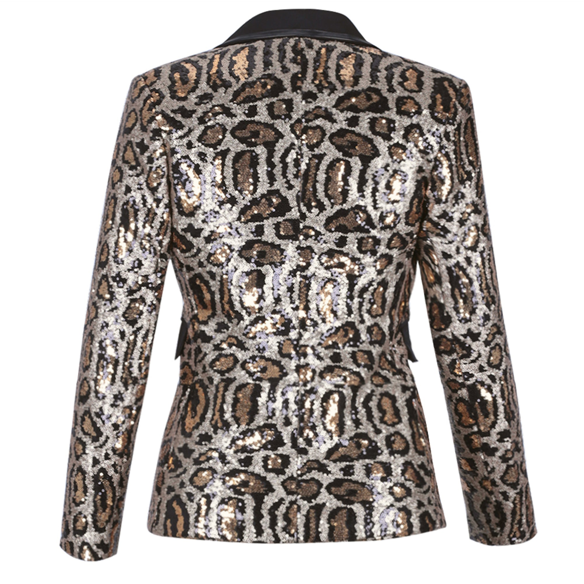 "Exclusive "" Get It Done"" Stunning Sequined Leopard Designed Blazer + Matching Slack Pant"