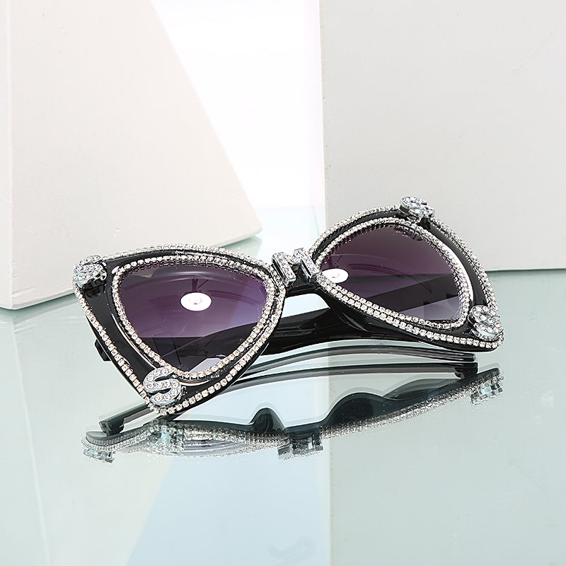 Diamond Sunglasses Bow Glam Shades
