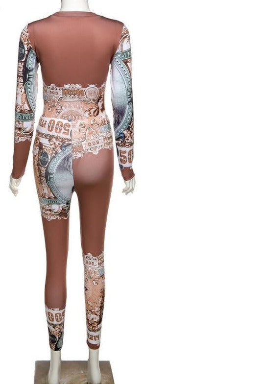 Hot New Bodycon Bodysuit & Leggings Pant Set