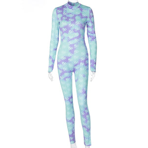 "Hot New ""Bodied"" Floral Cloudy Day Fabulous Jumpsuits"