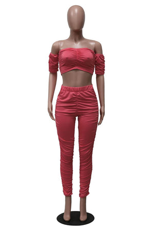 "New Hot ""Sweetie"" Crop Top + Matching High-waist Matching Legging Sets"