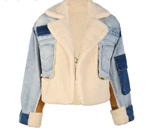 Exclusive In Our Shop Fab New Denim Wool Bomber Jacket