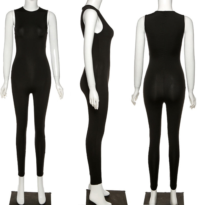 "New Hot Solid Sleeveless ""Forget Me Not"" Sexy Jumpsuits"