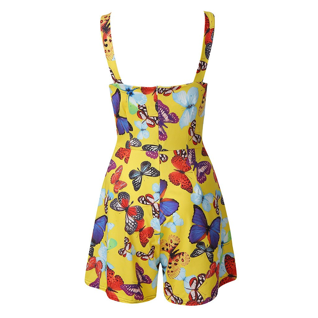 New Summer Butterfly V-neck Bow Knot Romper Playsuit