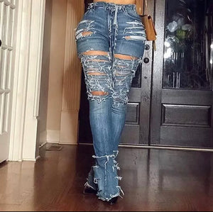 "New Fab ""This Or That"" Ripped Wide-Leg Jeans"