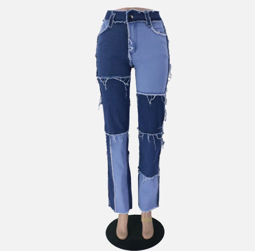 "New From Our CUTIE Collection ""Fairy"" Patched High-Waist Jeans"