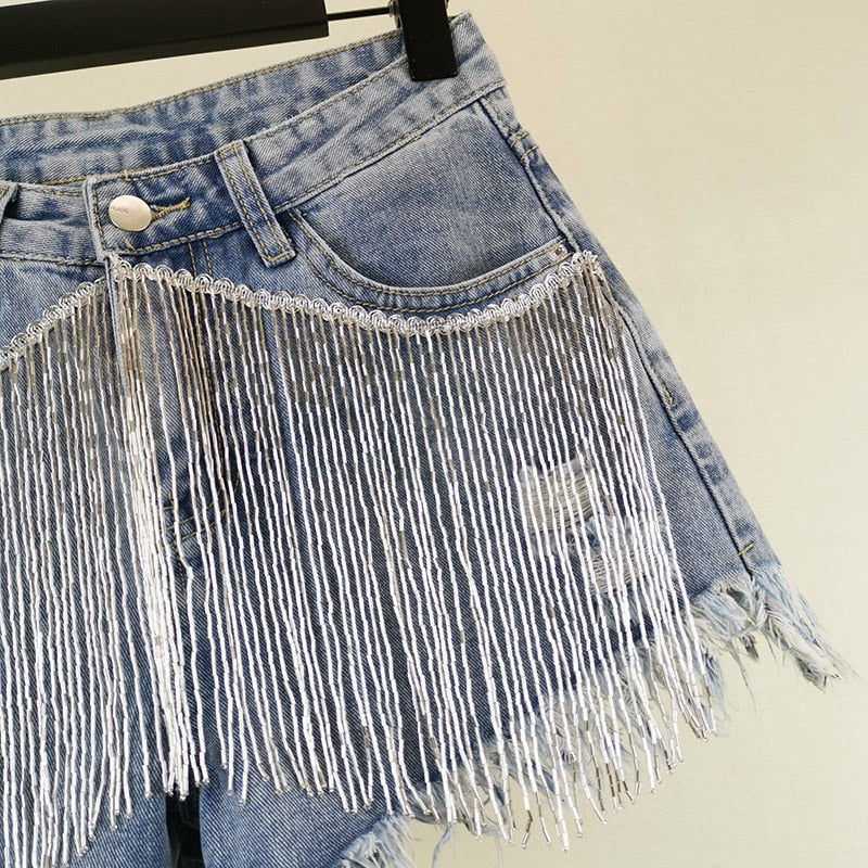 "Fabulous Hot ""What's Your Fantasy"" Fringe Denim Shorts"