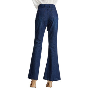 "New Arrival  Belted ""Billy Jean"" Flare Wide-Leg Jeans"