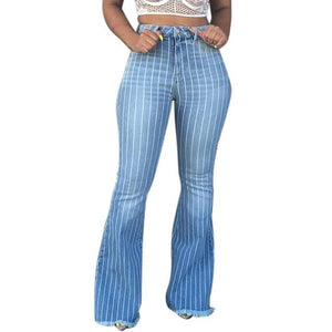 "Exclusive New ""Country Gal"" Striped Wide-Leg Jean"