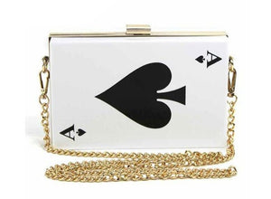 "Fabulous Our Newest Hot ""Not Playing With A Full Deck"" Collection Spade Clutch Bag"