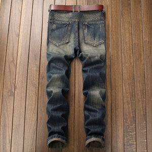 New Hot Men's Frayed Torn Faded Jeans