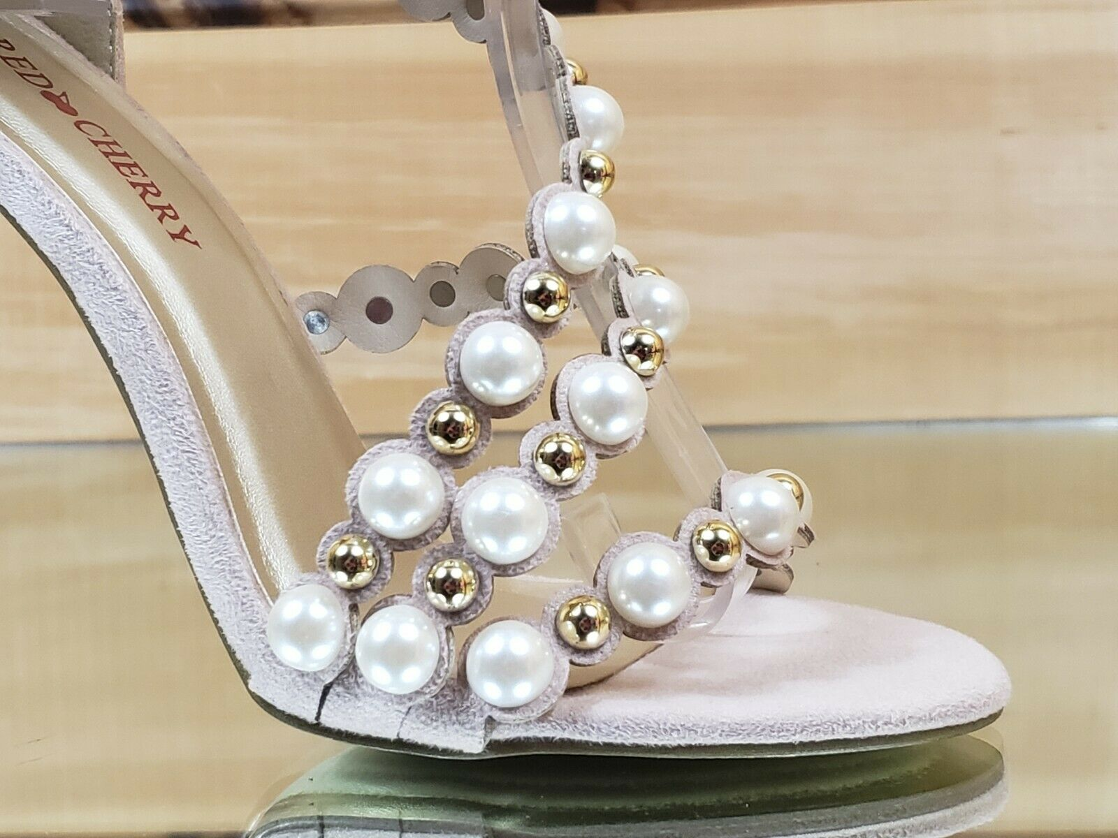 "Fabulous Hot ""Play To Play"" Faux Pearl Strap Stiletto Sandal"