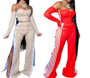 "New Hot ""Pay Attention"" Elegant Two-Piece Tracksuit"