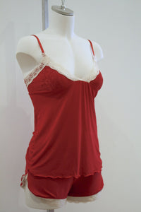 Celine Cami and Shortie Set | Red