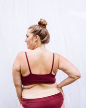 The Classic Bralette — Dark Red
