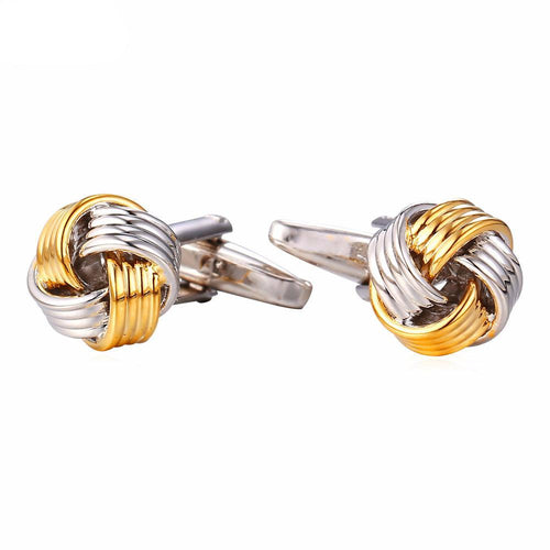 Two Tone Ribbon Cufflinks