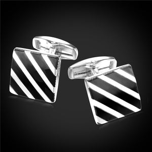 Square Striped Cufflinks