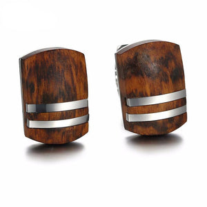Retro Wooden Cufflinks