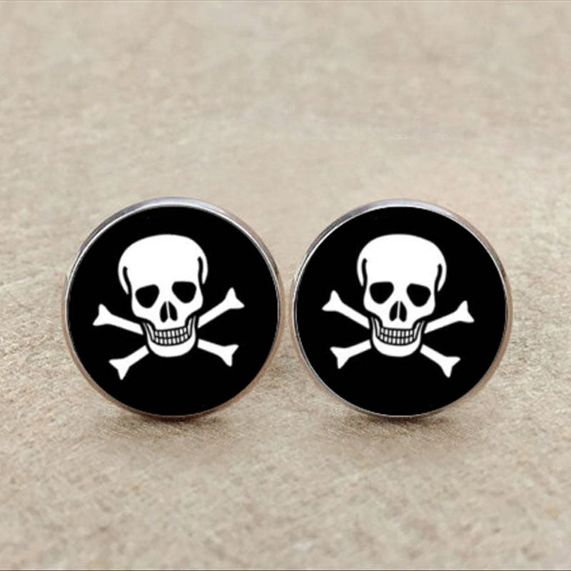 Pirate Flag Skull Cufflinks