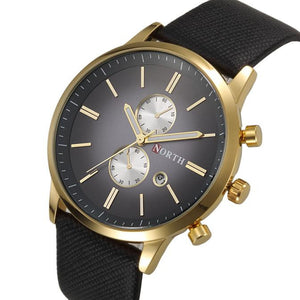 Genuine Leather Band Quartz Watch