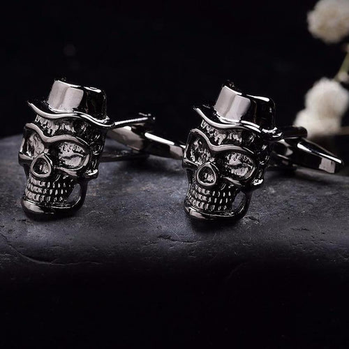 Skull with Hat Cufflinks