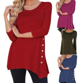 Side button Tunic Top